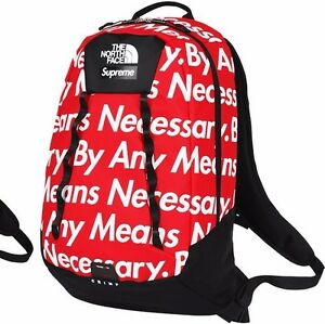 Supreme The North Face TNF Base Camp Crimp Backpack FW 2015 Red Brand New