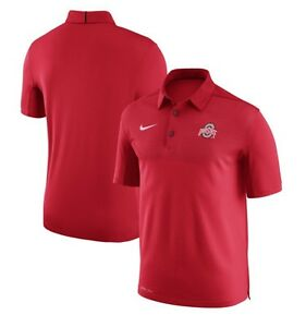 Nike Ohio State Buckeyes Elite 2017 Coaches Sideline Dri-FIT Polo 3x Football