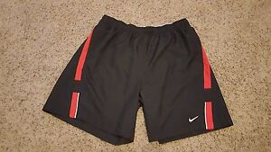 Nike Running Dri Fit men's black shorts with liner size XL fits L NWOT