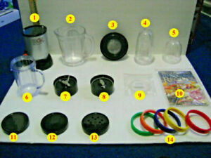 MAGIC BULLET BLENDER #MB-1001 REPLACEMENT PARTS / PIECES (YOUR CHOICE)