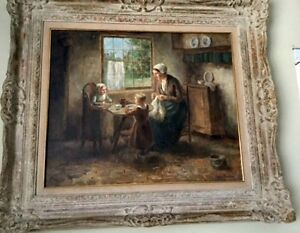 Cornelius Wouter Bouter 1888 1966 Mother and Children quot;20x24quot; Oil Framed $2500.00