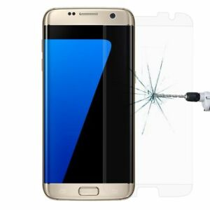 100 Pcs For Samsung S7 Edge Tempered Glass Screen Protector Case Friendly Clear