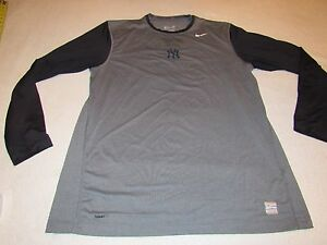 PLAYER ISSUED GAME WORN NIKE PRO NEW YORK YANKEES FIT DRY SHIRT SIZE XL