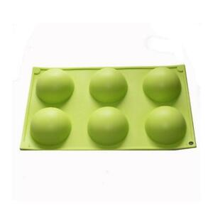 X-Haibei Round Dome Shape Cupcake Baking Soap Muffin Silicone Mold Tray Mould