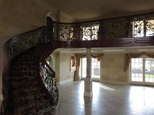 THE BEST HAND MADE WROUGHT IRON VICTORIAN STYLE ESTATE BALCONY RAILINGS - JB5