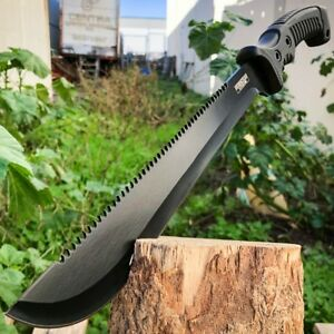 15.5quot; HUNTING SURVIVAL FIXED BLADE MACHETE Tactical Knife Rambo BOWIE Camping