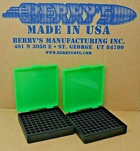 (2) 9 MM  380 AMMO BOXES  STORAGE (ZOMBIE GREEN COLOR) BERRY MFG