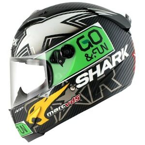 NEW SHARK RACE-R PRO SCOTT REDDING CARBON MOTORCYCLE HELMET GO & FUN