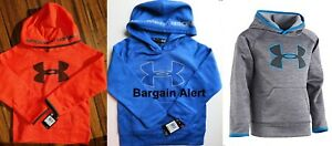 UNDER ARMOUR BOYS YOUTH SIZE 7 ~ 3 HOODIE SWEATSHIRTS ~ BLUE ORANGE GRAY $130