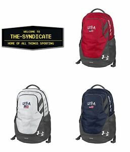 Under Armour-Hustle III-USA Backpack with American Flag Patch 3 STYLES TO CHOOSE