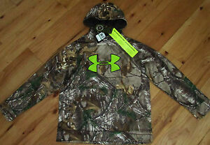 NEW Under Armour Storm camo camouflage hoodie NWOT boys' L YLG large $65