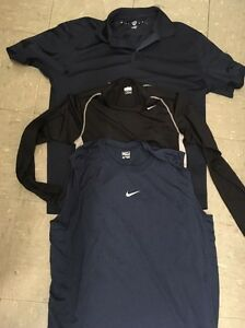 3 XL NIKE athletic shirts GOLF TANK FIT dry dark Navy blue black men's women