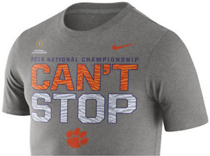 Nike Dri Fit Clemson Tigers Cant Stop Playoff Champs Team Training shirt men CFP