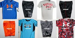 UNDER ARMOUR BOYS 4T SHORTS ~ SIZE 4 T-SHIRTS ~ 8 PIECES ~ NWT  $160