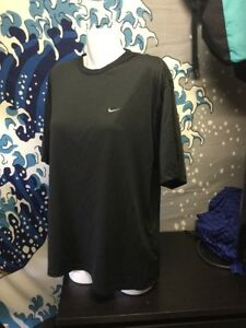 NIKE Fit Dry Black Athletic Fitness SS Shirt Mens XL  X-Large