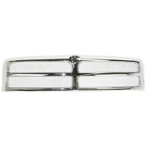 New Chrome Shell w Silver Insert Grille for Dodge Ram 1500 2500 3500 1994-2002