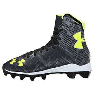 NEW Boys Under Armour Jr Highlight RM LacrosseFootball Cleats Black - Any Size