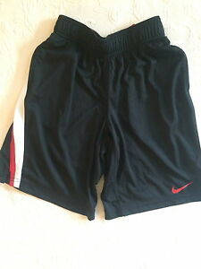 Nike boys Dry-Fit athletic shorts black with athletic stripes size S (8-10)