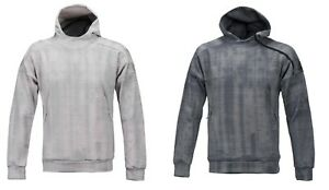 Adidas 2017 Men ZNE Pulse Sweats Hooded Gray Training Run Hoodie Shirt Jersey