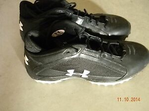 Ray Lewis Game-Used Under Armour Cleats