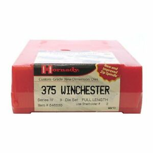 Hornady 546530 Series Iv Specialty Die Set 375 Winchester (.375)