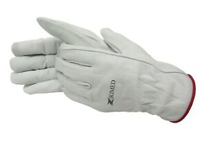 Goatskin White Color Working Gloves (All size Available)