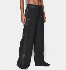 New With Tags $129 Womens Under Armour Tear Away Pants Black Size Medium M