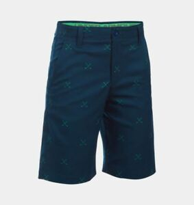Under Armour Match Play Printed Boys' Golf Shorts 18 Color: Academy (408)