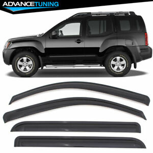 Fits 05 16 Nissan Xterra Acrylic Window Visors 4Pc