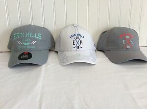 NWT UNDER ARMOUR MENS AND LADIES HATS ERIN HILLS LOGO 3 FOR $30.00.
