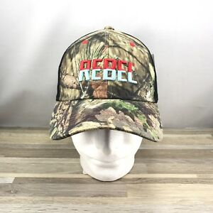 REBEL Lures Baseball Cap Hat Adjustable Camo Mossy Oak