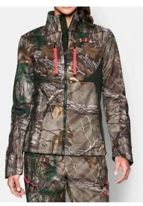NWT UNDER ARMOUR SCENT CONTROL COLDGEAR SPEED FREEK CAMO JACKET 1247079 XL