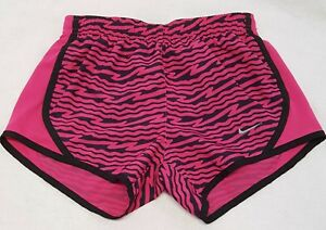 Nike Dri-Fit Athletic Running Shorts Youth Girls Small Hot PInk