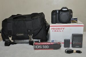 Canon EOS 50D 15.1MP DSLR Camera - Black (Body Only) Low Clicks MINT CONDITION!