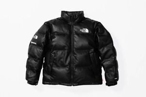 Supreme x TNF North Face Leather Nupste Jacket YellowBlackRed M L XL PREORDER