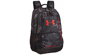 Under Armour Storm Hustle II Backpack School Casual Sports BlackRed Military