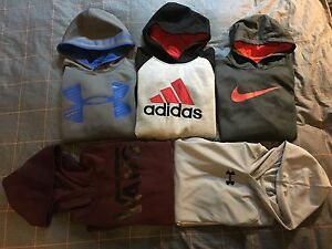 LOT 5 Boys Youth Size L NIKE UNDER ARMOUR ADIDAS VANS Hoodie very good