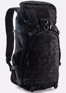 NEW Under Armour UA Tactical Storm Heavy Assault Black Military Backpack + Cover