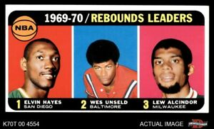 1970 Topps #5 Lew Alcindor  Wes Unseld  Rockets  Bullets (Wizards)  Bucks VG