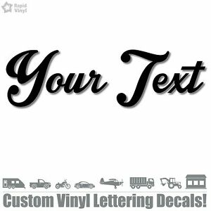 CUSTOM TEXT Vinyl Decal Sticker Car Window Bumper Your Personalized Lettering $7.99