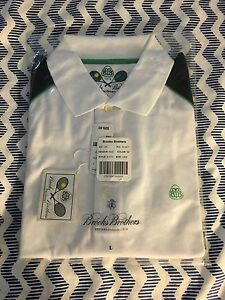NWT Rare Brooks Brothers Country Club Tennis Pro Sport Polo Shirt Large L