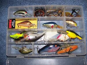A Rapala Deep Runner Fishing Lure and several other bright colored Fishing Lures
