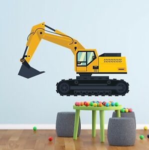 Construction Truck Excavator Wall Decal Kids  Art Vinyl Sticker Decor LB40