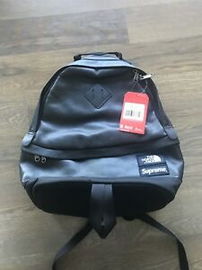 Supreme X The North Face LEATHER DAY PACK BLACK BACKPACK 100% AUTHENTIC IN HAND