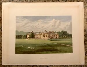 Colored Chromolithograph of Holme Lacy 19th Century $40.00
