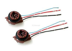 2pcs 3156 3157 4157 Pre-Wired Harness Socket For LED Signal Lights Brake Lights