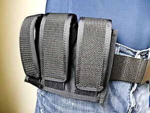 Three Pack Magazine Holder for 9mm, 45 ACP, 40 S&W Single / Double Stack