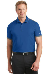 12 Custom LOGO Nike Golf Dri-FIT Stretch Woven  Performance Polo Shirt $49 ea