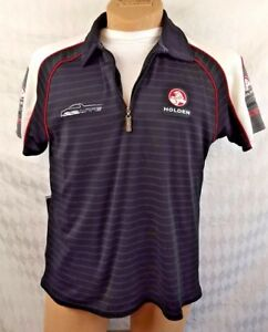 HOLDEN SS UTE SHIRT Zip Sport Polo Black Red White Racing Embroidered Adult L