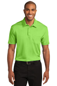 12 Custom Logo Port Authority K540P Dri-Fit SIlk Touch Pocket Polo Shirt $18